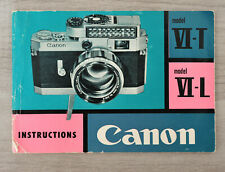 CANON VI-T VI-L : manual instructions - notice d'utilisation - english