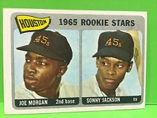 Joe Morgan 1965 Topps Rookie #16 Excellent Reds Legendary 2B HOFer Off-Center