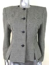 Vintage Classic Chic Houndstooth BlazerJacket 100% Wool Size 12