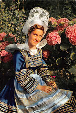TARJETA POSTAL- - Joven niña en traje de ROSPORDEN-CONCARNEAU-POSTAL