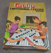 NEW SEALED Vtg Group Crossword Puzzle Game Board Milton Bradley 1971
