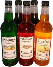 5 x 750 ml snow cone, shaved ice syrup mix bottles Free Postage