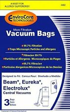 Eureka, Beam and Electrolux Central Micro Vacuum  Bags