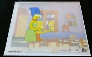 The Simpsons - Production Cel - Bart, Lisa, and Marge - 1989 - ∞