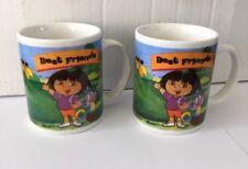 2 Dora the Explorer Coffee Cup Mugs Best Friends Cup Monogram 2005