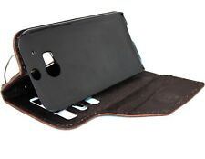 genuine natural leather case for HTC ONE M8 book wallet handmade retro slim m 8