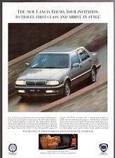 LANCIA THEMA TEST DRIVE OFFERTA SPECIALE FINE 1992 UK mercato OPUSCOLO illustrativo