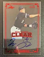 2019 Leaf Trinity Clear NICK MADRIGAL Autograph Rookie Red Acetate SP /25