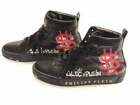 "Philipp Plein x Alec Monopoly ""Alec One"" Hi-Top Sneakers Men's Designer Shoes"