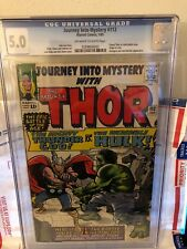 JOURNEY INTO MYSTERY 112 CGC 5.** NICE COPY BRIGHT COLORS CLEAN COVER !