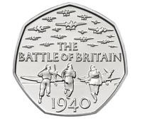 50P PENCE 2015 COIN BATTLE BRITAIN 5TH PORTRAIT RARE ALMOST UNCIRCULATED CHEAP