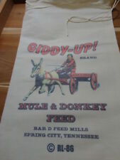 RL-86 GIDDY-UP Flour Bag Sack Feed Seed  Novelty Collectible