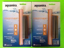 2 Aquamira Frontier Emergency Water Filter Bug Out Bag Tornado Flood Survival