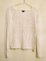 Lafayette 148 Crocheted Top New York Bead Embellished Lacy Shirt Small Petite