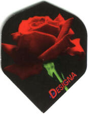 High Resolution Red Rose Dart Flights: 3 per set