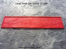 """3pc Large Slate Tile 12""""x48"""" Texture Set Decorative Concrete Cement Stamps Mats"""
