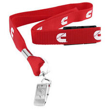 Cummins dodge lanyard badge tag holder red clip key chain trucker diesel gear