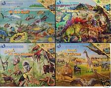 *4* ECO PUZZLES Dinosaur Animal Africa Boys Educational
