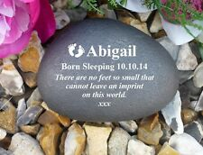 Personalised Pebble (Stone effect) Personalised - Weatherproof - Baby Footprints