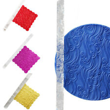 16cm Acrylic Rolling Pin Cookie Baking Textured Embossing Fondant Cake Roller