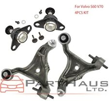 4pcs  Front Lower Control Arm + Ball Joint Lt & Rt Kit for Volvo S60 V70