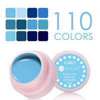 5ml Soak Off UV Gel Nagellack Gellack Nail Polish Blau Serie G001-012 UR SUGAR