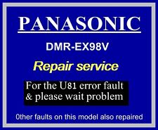 U81 error code REPAIR SERVICE for Panasonic DMR-EX98V dvd recorder