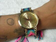 Montre fantaisie originale bracelet brésilien dreamcatcher attrape reve colorée