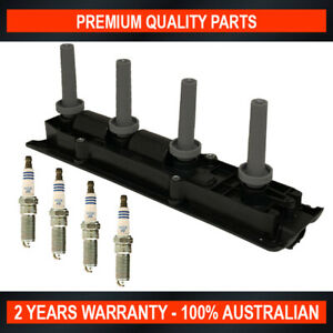 Ignition Coil & Spark Plug Set for Holden Astra TS Vectra ZC Zafira (2.2L)