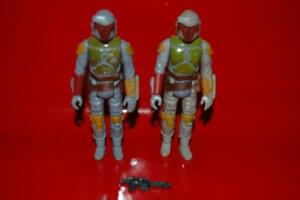 1979 Vintage Star Wars ESB Bounty Hunter ( Boba Fett ) Lot of 2 W/ a Blaster !