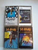 Lot Of 4 Def Leppard Vintage Cassette tapes