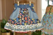 Matilda Jane Girls Back to School Skort with Shorties Size 8 Nwot