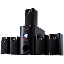 Frisby 5.1Ch Home Theater Wired Speaker System w/ Bluetooth Streaming USB SD