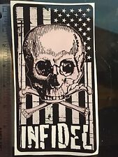 Infidel Sticker Decal ISIS American Flag FREE SHIPPING