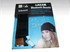 LAYEN Bluetooth Hands Free Strick-Beanie - Mütze mit Mikrofon und K (W16-DB4174)