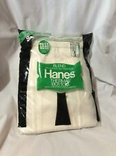 New listing Vintage 1977 Nos Hanes Thermal Bottoms Tall Man Size Xl 42-44 Long
