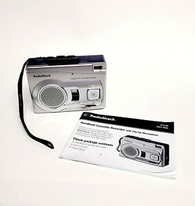 Radio Shack CTR-122 Handheld Cassette Tape Recorder Voice ActivatedPop Up Mic