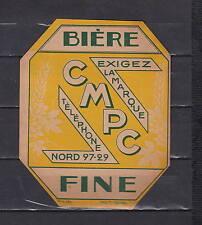A150  Ancienne étiquette Bière Alcool France Brasserie Cmpc  A2