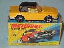 MATCHBOX SUPERFAST 06 Mercedes 350SL Yellow VNM in Very Rare Hybrid I1/K Box a