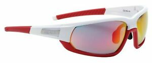 BBB ADAPT BSG-45 Sun/Sports Cycling Glasses White/Red Frame w/3 sets of lenses