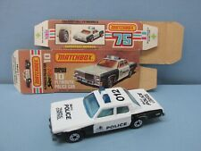 MatchboxSuperfast10C Police Car White / Blue Lights & Metro Police Tempa