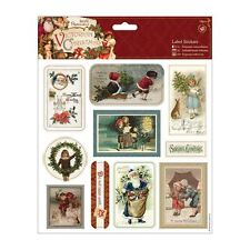 """Papermania 8 x 8"""" Label Stickers (10pcs) - Victorian Christmas"""