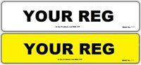 Pair of Standard MOT UK Road Legal Car Reg Registration Number Plate & Fixings
