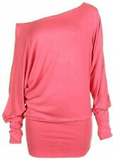 Womens Long Sleeve Off Shoulder Batwing Tunic Top