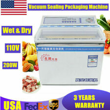 Tabletop Commercial Vacuum Sealer Food Saver Sealing Machine Packing Chamber 3l
