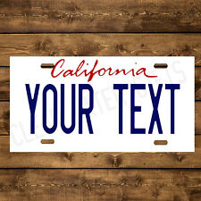 California Custom Aluminum Any Name Text Number Novelty Car License Plate