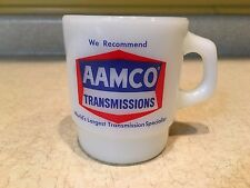 Anchor Hocking Aamco Transmission Coffee Mug Cup Advertising Mechanic Milk Glass