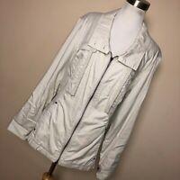 Coldwater Creek 18W 1X Jacket Lightweight Tan Full Zip Up Zipper Front Pocket M1