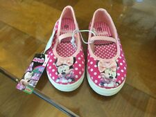 Nwt Disney Minnie Mouse Shoes Sz 8 Child Pink W/ Dots