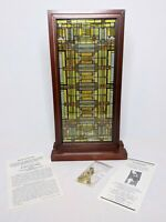 Frank Lloyd Wright Stained Glass Oak Park Home Studio Skylight Panel Sun Catcher